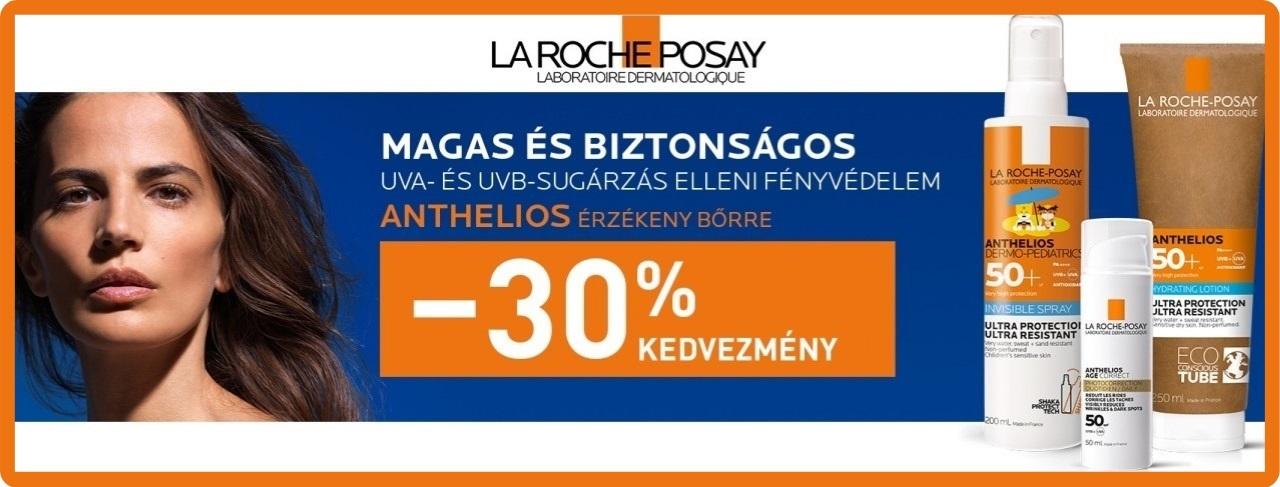 La Roche-Posay Anthelios - 30% kedvezmény