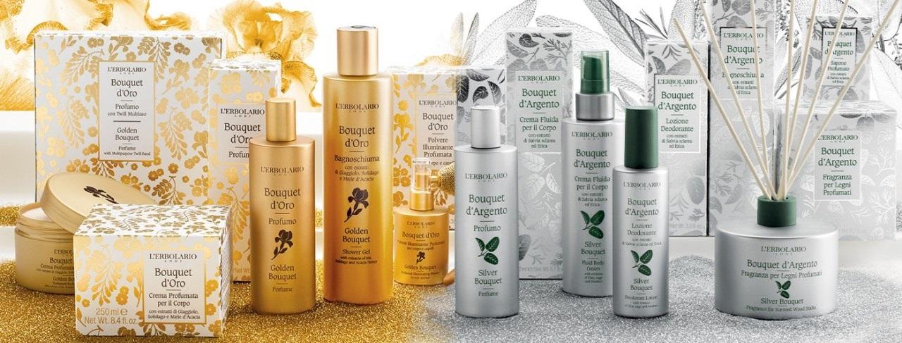 L'Erbolario - Golden Bouquet és Silver Bouquet termékcsaládok