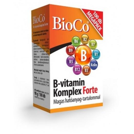 BIOCO B-VITAMIN KOMPLEX FORTE TABLETTA MEGAPACK - 100X