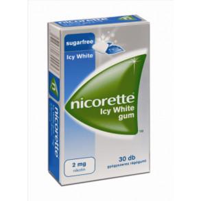 NICORETTE ICY WHITE GUM 2MG GYÓGYSZERES RÁGÓGUMI - 30X BUB