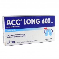 ACC LONG 600 MG PEZSGŐTABLETTA - 10X