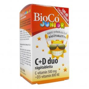 BIOCO  C+D3 DUO JUNIOR RÁGÓTABLETTA - 100X