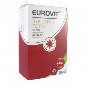 EUROVIT D-VITAMIN FORTE 3000 NE TABLETTA - 90X
