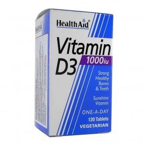 HEALTH AID VITAMIN D3 1000 IU TABLETTA - VEGETÁRIÁNUS - 120X