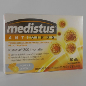 MEDISTUS ANTIVIRUS MÉZ CITROM - VITAPLUS - 10X