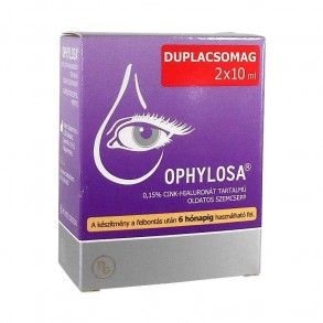 OPHYLOSA 0,15% OLDATOS SZEMCSEPP -DUO - 2 X 10 ML