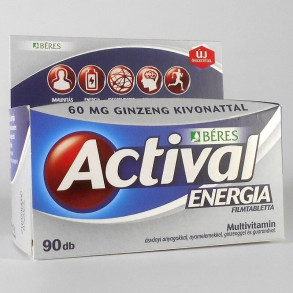 ACTIVAL ENERGIA GINZENG GUARANA FILMTABLETTA - 90X