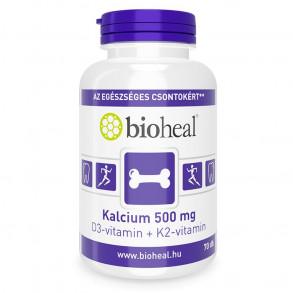 BIOHEAL KALCIUM 500 MG + D3-VITAMIN + K2-VITAMIN TABLETTA - 70X