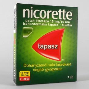 NICORETTE PATCH ÁTTETSZŐ 15 MG/16 ÓRA TRANSZDERMÁLIS TAPASZ - 7X