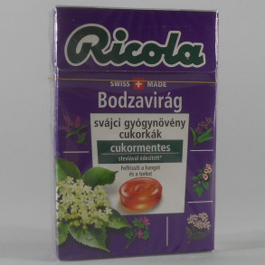 RICOLA BODZAVIRÁG GYÓGYNÖVÉNYES CUKORMENTES CUKORKA - 40 G