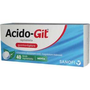 ACIDO-GIT MAALOX  RÁGÓTABLETTA - 40X