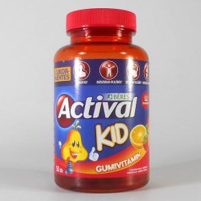 BÉRES ACTIVAL KID GUMIVITAMIN CUKORMENTES - 50X