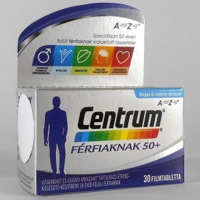 CENTRUM FÉRFIAKNAK 50+ A-Z FILMTABL - 30X