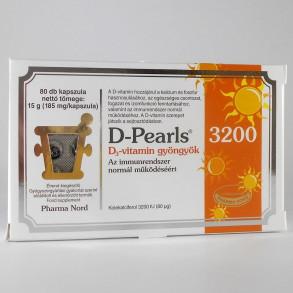 D-PEARLS D3-VITAMIN 3200 GYÖNGYKAPSZULA - PHARMA NORD - 80X