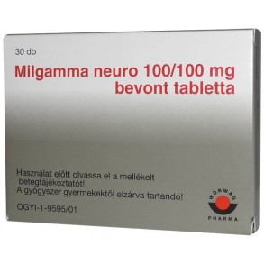 MILGAMMA NEURO 100/100MG BEVONT TABLETTA - 30X BUB