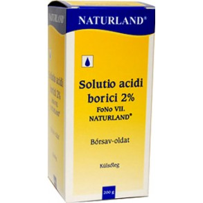 SOLUTIO ACIDI BORICI 2 % FONO VII NATURLAND TK - 200G