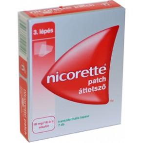 NICORETTE PATCH ÁTTETSZŐ 10MG/16 ÓRA TRANSZD TAP - 7X