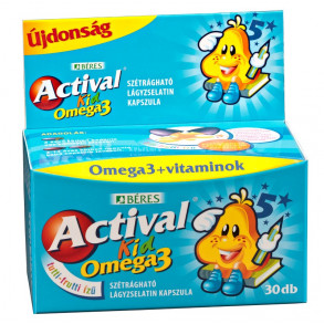 BÉRES ACTIVAL KID GUMIVITAMIN OMEGA-3 GUMITABLLETTA - 30 X
