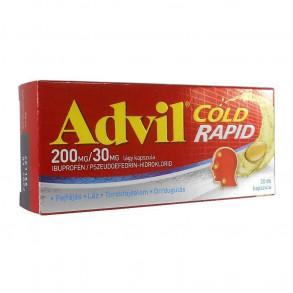 ADVIL COLD RAPID 200MG/30MG LÁGY KAPSZULA - 20X FÓLIAC