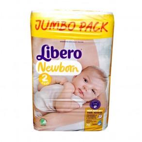 LIBERO NEWBORN 2 3-6KG - 70X