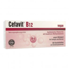 CEFAVIT B12 RÁGÓTABLETTA - 60X