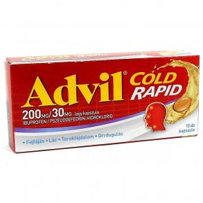 ADVIL COLD RAPID 200MG/30MG LÁGY KAPSZULA - 10X FÓLIAC