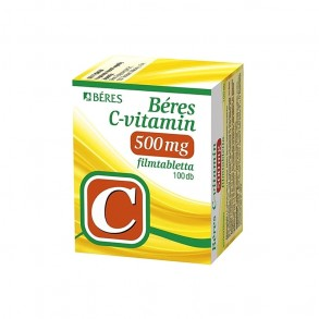 BERES C-VITAMIN 500MG FILMTABLETTA - 100X