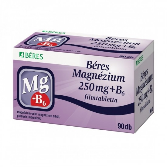 BÉRES MAGNÉZIUM 250 MG + B6 FILMTABLETTA - 90X