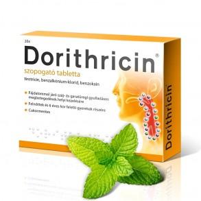 DORITHRICIN SZOPOGATÓ TABLETTA MENTOLOS - 20X