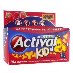 BÉRES ACTIVAL KID RÁGÓTABLETTA - 80X