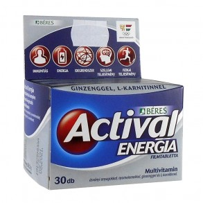 BÉRES ACTIVAL ENERGIA FILMTABLETTA - 30X