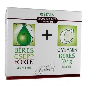 BERES CSEPP FORTE BELS OLD CS+C-VIT 50MG TABL - 4X30ML+120