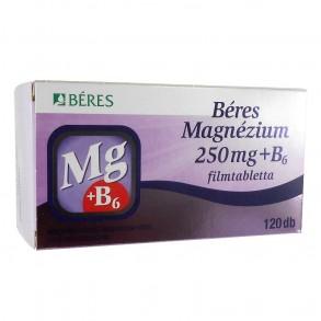 BÉRES MAGNÉZIUM 250 MG + B6 FILMTABLETTA - 120X