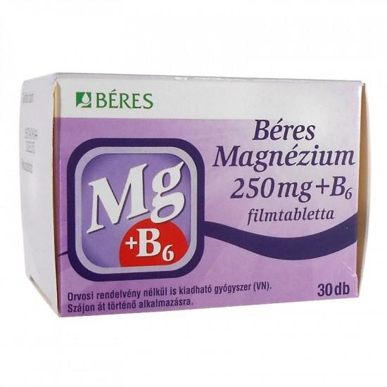BÉRES MAGNÉZIUM 250 MG + B6 FILMTABLETTA - 30X