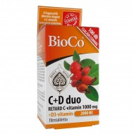 BIOCO C+D DUO RETARD C-VITAMIN 1000 MG + D3-VITAMIN 2000 NE FILMTABLETTA - 100X