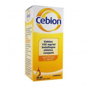 CEBION 100MG/ML BELSŐLEGES OLDATOS CSEPPEK - 1X30ML