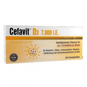 CEFAVIT D3 VIT 7000NE FILMTABLETTA - 20X