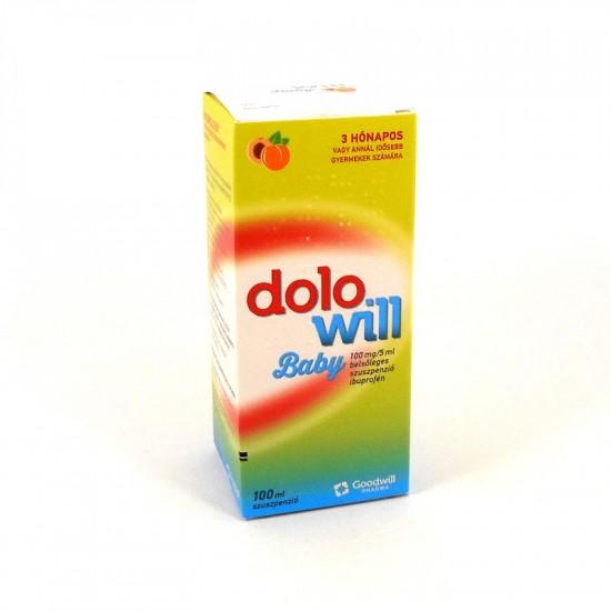 DOLOWILL BABY 100MG/5ML BELS SZUSZP - 1X100ML