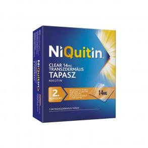 NIQUITIN CLEAR 14 MG TRANSZDERMÁLIS TAPASZ - 7X